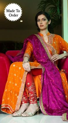 Beautiful orange premium fabric replica designer salwar kameez for evening party function online. Latest designer suit for women online in india. Pakistani Couture, Indian Couture, Pakistani Bridal, Pakistani Outfits, Indian Bridal, Pakistani Mehndi Dress, Indian Suits, Indian Attire, Indian Dresses