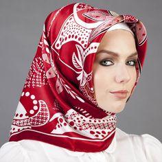 kırmızı eşarp modelleri - Modanium - Modanium