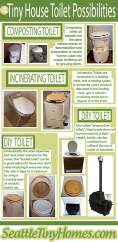 There are many decisions to make in building your tiny home, not the least is what to do with the poo! #tinyhomes #builtittiny #tinyhousetoilets #tinylife #smallforall #seattletinyhomes #tinyhomeideas