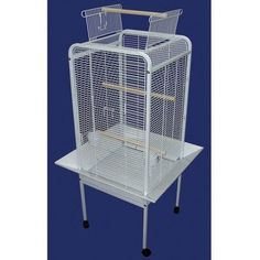 """YML Group EF2222WHT EF22 1/2"""" Bar Spacing Play Top Parrot Bird Cage - 22""""x22"""" In White"""