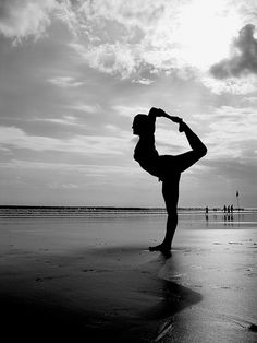 Two of my favorite things: yoga and the beach! Nothing better to de-stress after a long day (while getting a workout!)