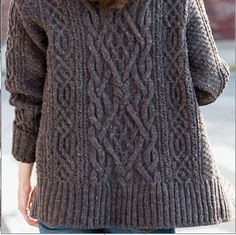 Sumptuous Cabling: I'm so drawn to this. Future project. Brooklyntweed.com