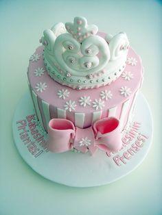 """""""Prenses Tacı"""" Temalı Butik Doğumgünü Pastası.! Princess Crown Birthday Cake.!"""