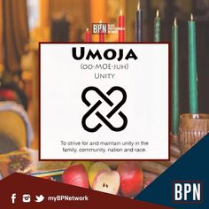 "Happy Kwanzaa! Whether you are new to the holiday or a staple tradition for you the principles of Kwanzaa are great for all to embrace. Kwanzaa runs from Jan 26th to Jan 1st. Today starts off with the Principle of Umoja - Unity.  ""Unity is STRENGTH Division is WEAKNESS"" #Umoja #Unity #HappyKwanzaa #Kwanzaa #Principles #BlackProfessionals #BPN #BPNetwork"