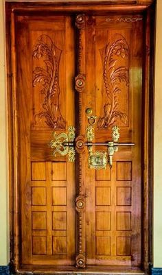 Old door and locks manichithrathazhu doors for Home front door design indian style