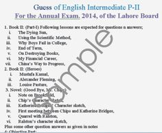 Guess (English) for Inter P-II - For Every One