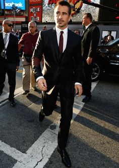 Colin Farrell at the Total Recall premiere