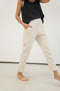 Clyde Work Pant in Cotton Canvas – Elizabeth Suzann