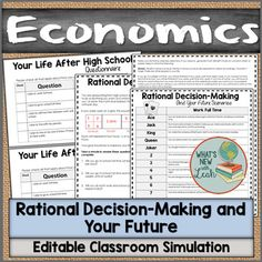 Ever tried a simulation in your classroom? This activity for high school economics classes helps you Home Economics Classroom, Teaching Economics, Economics Lessons, Social Studies Classroom, Life After High School, High School Activities, Secondary Teacher, School Subjects, New Teachers