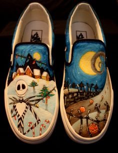 6ee96c77e3 Custom Vans - Nightmare Before Christmas Vans Krista I thought of you when  I saw these