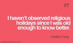 Cristinaisms #7: Religious Holidays | Sandra Oh News.