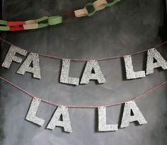 glass confetti: fa la la la la