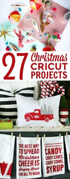 I am so excited to share these fun 27 Christmas Cricut Projects with you all, you're going to have so much fun making them. If you don't have a Cricut there's no need to worry, now is a great time to get one, just in time for the fun holiday craft! Cricut Christmas Ideas, Christmas Gifts For Kids, Christmas Projects, Christmas Crafts, Xmas, Christmas Tree, Diy Holiday Gifts, Diy Gifts, Holiday Crafts