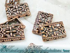 25 Antiqued Copper Finish 6-hole Connectors 17x12mm. Starting at $5 on Tophatter.com!