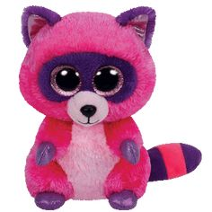 "Roxie the Pink Raccoon - 6"" - Ty Beanie Boo's"