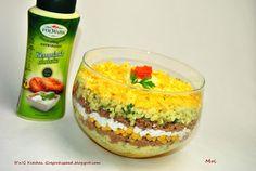 R'n'G Kitchen: Sałatka warstwowa z tuńczykiem i mango