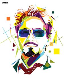 Tony Stark in WPAP by aryakuza on DeviantArt Iron Man Wallpaper, Pop Art Wallpaper, Art And Illustration, Graphic Design Illustration, Abstract Portrait, Portrait Art, Marvel Drawings, Art Drawings, Sketch Manga