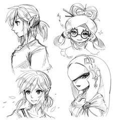 Link, Mipha, and Purah