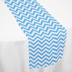 Turquoise Chevron Table Runner by Chair Covers & Linens