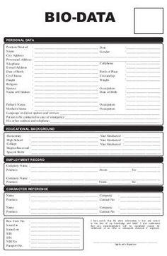 Format Of Biodata For Job Pdf Luxury Sample Of Biodata For Job Application Etame Mibawa - unmiser able Resume Format Examples, Simple Resume Format, Job Resume Format, Resume Pdf, Resume Templates, Sample Resume, Cv Template, Basic Resume, Resume Design Template