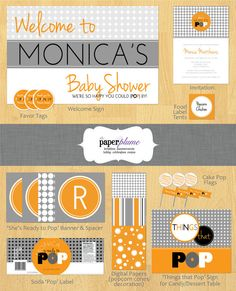 She's Ready to Pop Modern Baby Shower Party by thepaperplume, $35.00