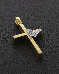 Βαπτιστικός Σταυρός Χρυσός Κ14 Cross Pendant, Jewelry Design, Pendants, Rings, Paris, Jewellery, Beauty, Wedding, Fashion