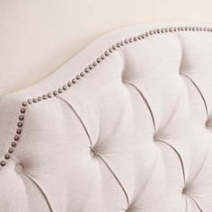 Shop for Abbyson Royal Tufted White Queen/ Full Linen Headboard. Get free delivery On EVERYTHING* Overstock - Your Online Furniture Shop! Linen Headboard, Full Headboard, White Queen, Upholstery, Free Shipping, Shop, Design, Tapestries, Reupholster Furniture
