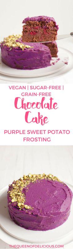 Grain-free Chocolate Cake | Purple Sweet Potato | Sugar-free baking | Vegan | Gluten-free