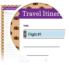 Travel Itinerary - Download here: https://www.alejandra.tv/shop/printable-home-organizing-checklists/?utm_source=Pinterest&utm_medium=Pin&utm_content=Checklistk&utm_campaign=Pin If you're going on a trip, planning in advance is key to making it a fun getaway for vacation or a productive one for business! Either way, this travel itinerary checklist will keep you organized with the information you need to have a smooth trip.