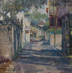 """First Place $3,800 Funded by Plein Air Magazine 1 Full-Page Advertisement John Michael Carter OPAM """"Aviles Street"""""""