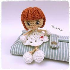 Crochet Amigurumi, Crochet Doll Pattern, Crochet Dolls, Knit Crochet, Crochet Hats, Crochet Keychain, Christmas Ornament Crafts, Miniature Dolls, Teddy Bear