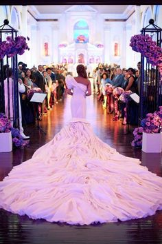 Now THAT'S a wedding dress!