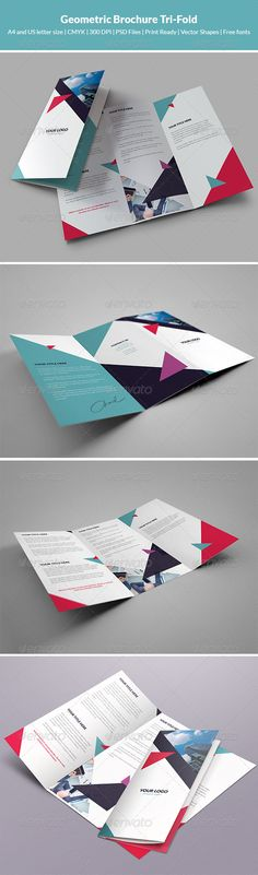 Geometric Brochure Tri-Fold - Corporate Brochures