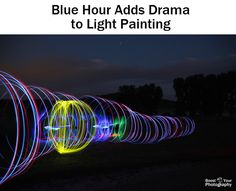 Blue Hour Adds Drama to Light Painting - Blue Hour Photography Taking Pictures, Cool Pictures, Cool Photos, Camera Hacks, Camera Tips, Amazing Photography, Photography Tips, Blue Hour, Take Better Photos