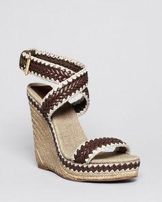 Tory Burch Open Toe Platform Wedge Sandals - Lilah High Heel | Bloomingdale's