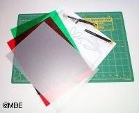 How to cut your own stencils (clear plastic school folders or report covers can be used in place of the acetate)
