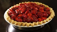 """Strawberry Pie (recipe) - """" Some of the berries are used to make a quick glaze, coating the rest of the fruit in a glossy sheen before the pie is assembled."""""""