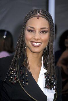 Alicia Keys' Most Head-Turning Hairstyles Of All Time # alicia keys Braids with beads Alicia Keys' Most Head-Turning Hairstyles Of All Time Alicia Keys Hairstyles, Simply Hairstyles, Ghana Braids Hairstyles, Celebrity Hairstyles, Girl Hairstyles, Braided Hairstyles, African Hairstyles, African Braids Styles, Braid Styles