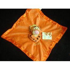 "Amazon.com: Disney's Tigger ""Baby Rattle Plush Security Blanket"": Baby"
