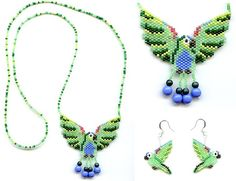 Mealy Parrot Set Beaded Necklace, via Flickr.