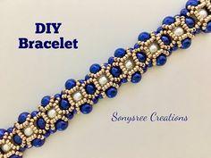Party wear Beaded Bracelet. Pulsera con cuentas. Браслет из бисера - YouTube