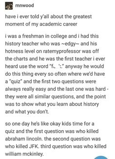 Some of us only know about historical events from musicals, but that doesn't mean we're wrong. #funny #knowledge #Tumblr #lol