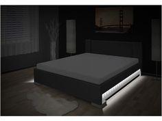 Luxusná posteľ s úložným priestorom Luna 180x200 cm. Luxusná posteľ s úložným priestorom 180x200 cm. Súčasťou postele sú kvalitné lamelové rošty. Ďalej po bokoch postele sú led diódové svetlá a na čele je vypínač. Doprava po celej SR zadarmo