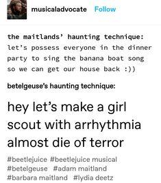 Theatre Jokes, Theatre Geek, Broadway Theatre, Musical Theatre, Broadway Shows, Be More Chill, Dear Evan Hansen, Kid Memes, Beetlejuice