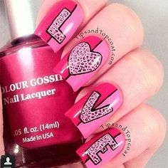 Love Love Love Nail | Valentines Nails