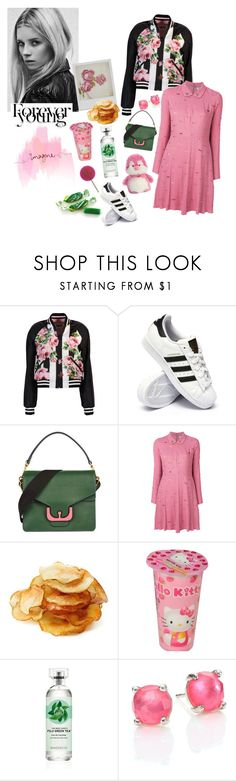 """0.00.097"" by estrellica ❤ liked on Polyvore featuring Dolce&Gabbana, adidas, Coccinelle, Sonia by Sonia Rykiel, Disney, Hello Kitty, Fuji, Ippolita, Aurora World and TEM"