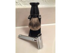 NEW IN BOX Edwin Jagger DE89LBL Razor, Best Badger Shaving Brush with Drip Stand, and Shaving Cream/Lotion Sampler Pack! $80.00