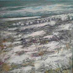 Febbraio sul lago 50x50 acrilico su tela Luigi Torre painter