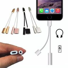 The 2 in 1 iPhone Splitter Cord makes it possible to listen to audio while charging your iPhone 7 and iPhone 7 Plus. Enjoy music or talk through your iPhone earphones while you charge. Android Ou Iphone, New Iphone, Iphone 7 Cases, Apple Iphone, Iphone Charger, Pink Iphone, Smartphone, Mobiles, Iphone 7 Plus Accessories