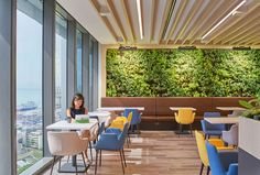 An engaging Activity-Based Workplace that supports the welfare of the staff through inspired and uplifting design details. Work Cafe, Green Walls, Pantry, Singapore, Spaces, Interior Design, Inspired, Pantry Room, Nest Design